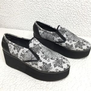 Iron Fist - Floral Spider Web Platform Shoes